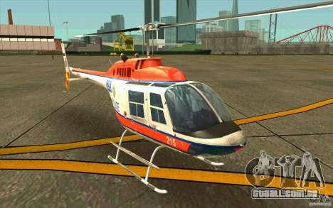 Bell 206 B Police texture2 para GTA San Andreas esquerda vista