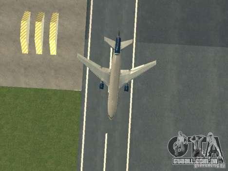 McDonell Douglas DC10 United Airlines para GTA San Andreas vista interior
