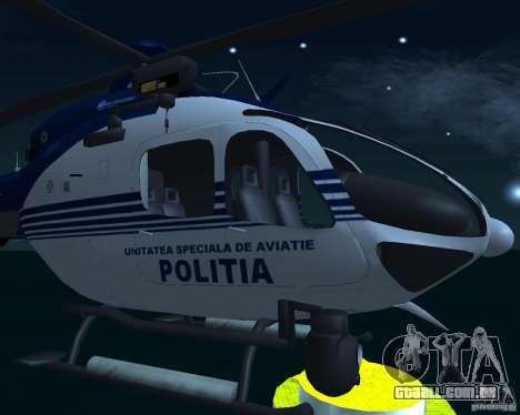 EC-135 Gendarmerie Police para GTA San Andreas vista direita