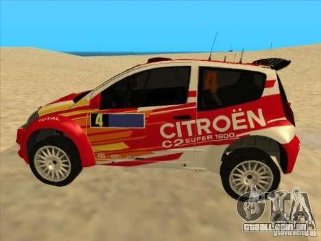 Citroen Rally Car para GTA San Andreas esquerda vista
