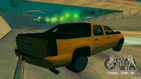 Chevrolet Avalanche 2011 para GTA San Andreas esquerda vista