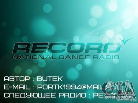 Radio Record by BuTeK para GTA Vice City terceira tela