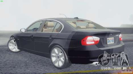 BMW 330i e90 para GTA San Andreas esquerda vista