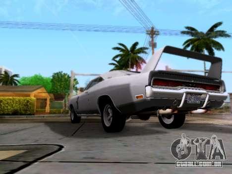 Dodge Charger RT para GTA San Andreas vista traseira