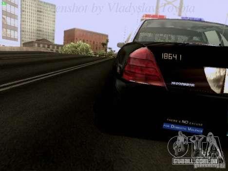 Ford Crown Victoria Los Angeles Police para GTA San Andreas vista interior