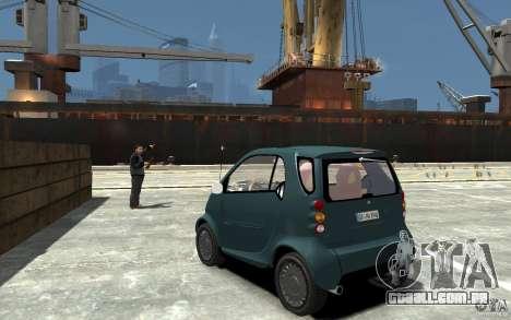 Smart For Two para GTA 4 traseira esquerda vista