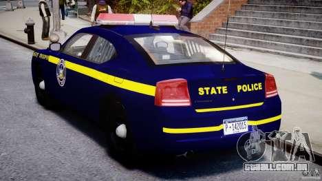 Dodge Charger NY State Trooper CHGR-V2.1M [ELS] para GTA 4 vista direita