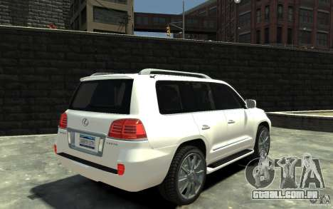 Lexus LX 570 v1.0 para GTA 4 vista direita