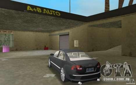 Audi A8 para GTA Vice City vista direita