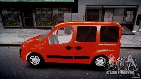 Fiat Doblo 1.9 2009 para GTA 4 esquerda vista