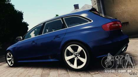 Audi RS4 Avant 2013 v2.0 para GTA 4 esquerda vista
