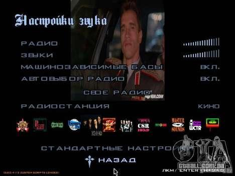Rádio grupo filmes para GTA San Andreas terceira tela
