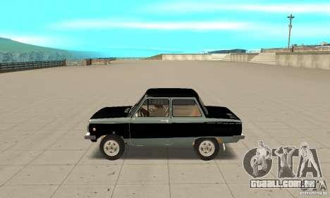 ZAZ 968M versão 1.0 para GTA San Andreas esquerda vista