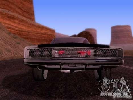 Dodge Charger 1970 Fast Five para GTA San Andreas traseira esquerda vista