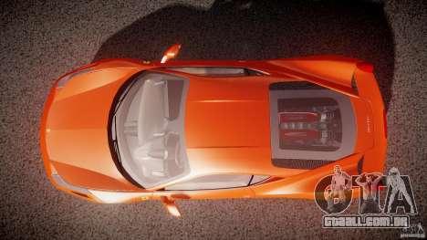 Ferrari 458 Italia 2010 para GTA 4 vista superior