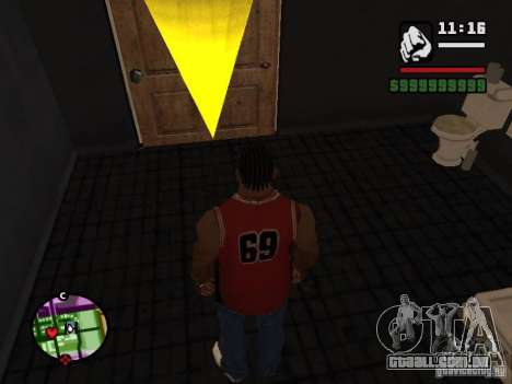 CJ privado para GTA San Andreas por diante tela