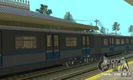 Rusich 4 trem para GTA San Andreas vista traseira