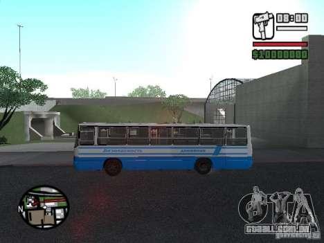 Segurança Ikarus 260 para GTA San Andreas traseira esquerda vista