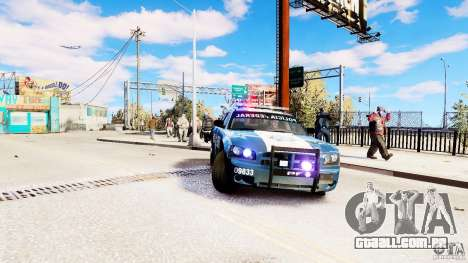 POLICIA FEDERAL MEXICO DODGE CHARGER ELS para GTA 4 vista direita