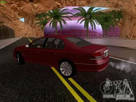Ford Falcon Fairmont Ghia para GTA San Andreas vista interior