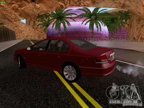 Ford Falcon Fairmont Ghia para GTA San Andreas vista interior