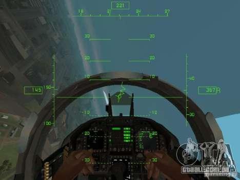 Aviação HUD para GTA San Andreas terceira tela