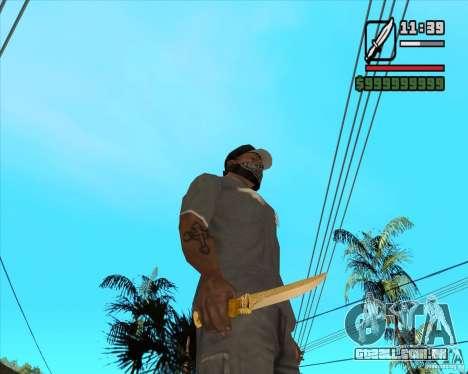 Faca do Príncipe para GTA San Andreas segunda tela