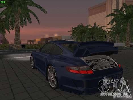 Porsche 911 GT3 para GTA San Andreas vista interior