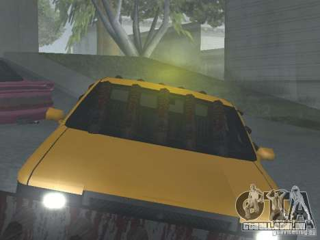 Táxi Zombie para GTA San Andreas vista interior