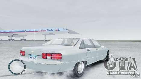 Chevrolet Caprice 1993 para GTA 4 traseira esquerda vista