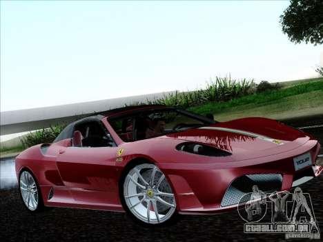 Ferrari F430 Scuderia Spider 16M para GTA San Andreas vista traseira