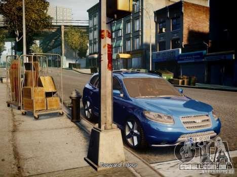 Hyundai Santa Fe para GTA 4 traseira esquerda vista