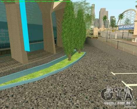 Novas texturas de Los Santos estádio Fórum para GTA San Andreas por diante tela
