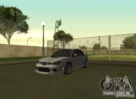 Subaru Impreza WRX STI-Street Racing para GTA San Andreas vista interior