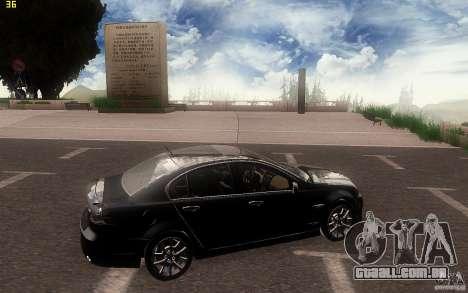 Pontiac G8 GXP 2009 para GTA San Andreas vista traseira