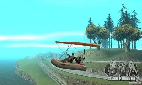 Wingy Dinghy (Crazy Flying Boat) para GTA San Andreas esquerda vista