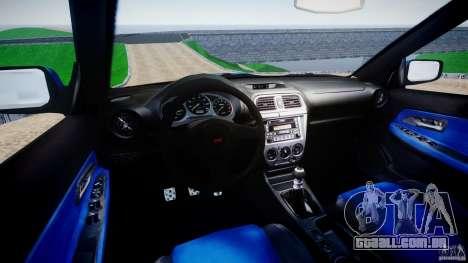 Subaru Impreza WRX STI 1999 v1.0 para GTA 4 vista de volta