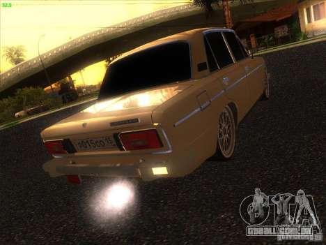 VAZ 2106 Tuning luz para GTA San Andreas vista direita