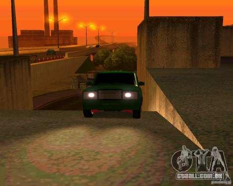 VAZ 2107 Hobo, v. 1 para GTA San Andreas vista traseira