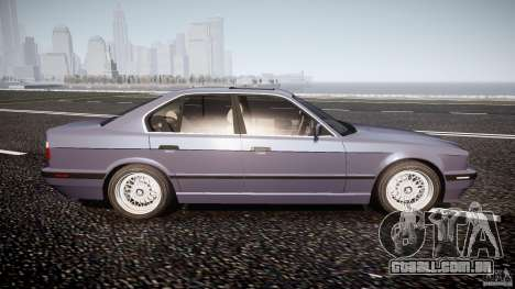 BMW 5 Series E34 540i 1994 v3.0 para GTA 4 vista lateral
