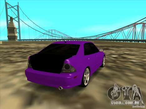 Lexus IS300 - Stock para GTA San Andreas traseira esquerda vista