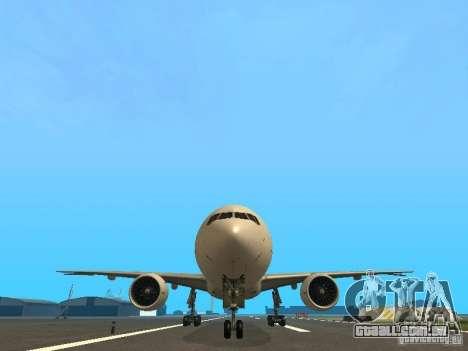 Boeing 777-200 Japan Airlines para GTA San Andreas vista superior
