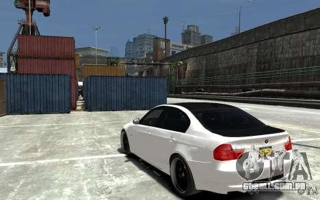BMW 330i E60 Tuned 2 para GTA 4 traseira esquerda vista