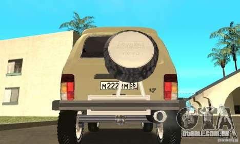 VAZ 21213 4 x 4 para GTA San Andreas vista interior