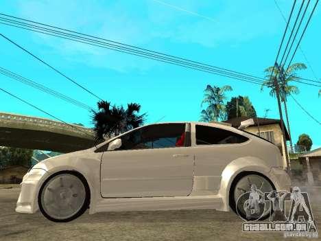 Ford Focus Tuned para GTA San Andreas esquerda vista
