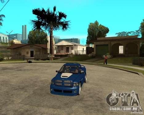Dodge RAM SRT-10 para GTA San Andreas vista traseira