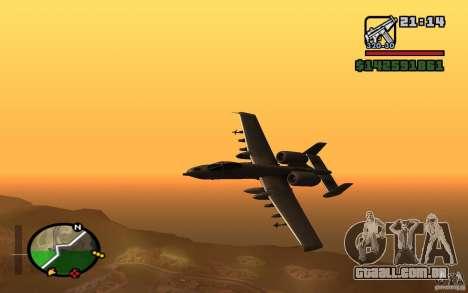 Thunderbold A-10 para GTA San Andreas