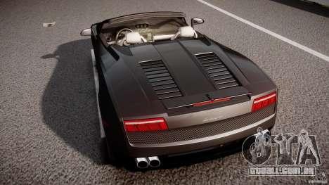 Lamborghini Gallardo LP560-4 Spyder 2009 para GTA 4 vista inferior