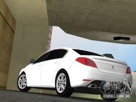 Peugeot 508 e-HDi 2011 para GTA Vice City vista traseira