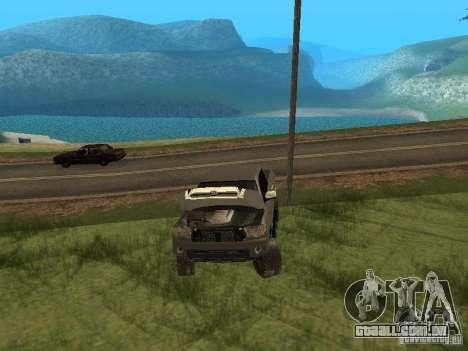 Toyota Tacoma 2011 para vista lateral GTA San Andreas
